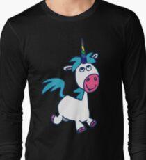 Joyous Cartoon Unicorn by Cheerful Madness!! Long Sleeve T-Shirt