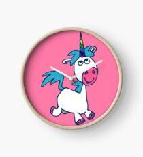 Joyous Cartoon Unicorn by Cheerful Madness!! Clock