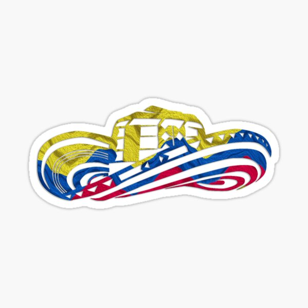 Colombian Sombrero Vueltiao in Colombian Flag Colors Sticker