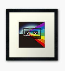 80s Retro Sci-Fi Framed Print