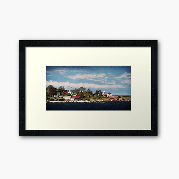 Big Tancook Island Houses Framed Art Print