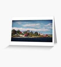 Big Tancook Island Houses Greeting Card