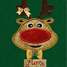 A Reindeer card by Ann12art