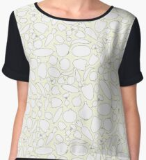 Seamless Vegetables Outlined Chiffon Top