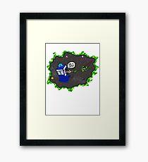 Tardis VS Delorean Framed Print