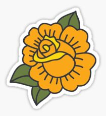 rose. traditional tattoo flash Sticker