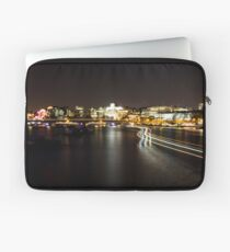 River at night with ferry lights Laptop Sleeve