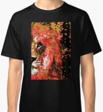 Red Lion Half Face by Sharon Cummings Classic T-Shirt