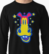 Smiling Cartoon Horse by Cheerful Madness  Lightweight Sweatshirt
