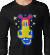 Smiling Cartoon Horse by Cheerful Madness  Long Sleeve T-Shirt