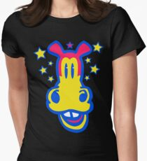 Smiling Cartoon Horse by Cheerful Madness  Women's Fitted T-Shirt