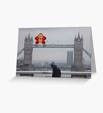 Donkey Kong In London Greeting Card
