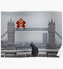 Donkey Kong In London Poster