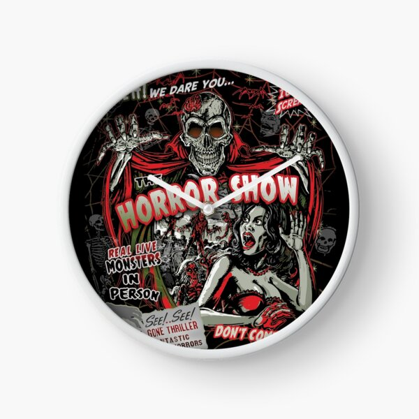 Spook Show Horror movie Monsters  Clock