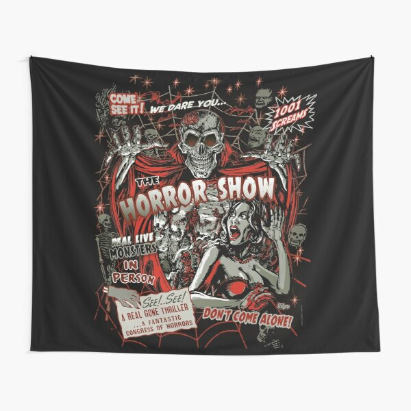 Spook Show Horror movie Monsters  Tapestry