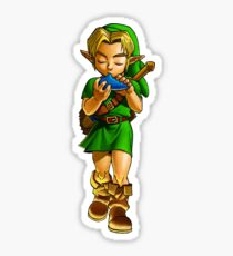 Child link playing the Ocarina of Time Sticker
