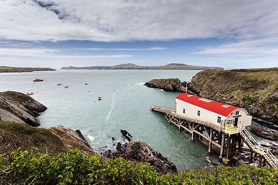 RNLI Lifeboat Station, St Justinians, Pembrokeshire by Heidi Stewart