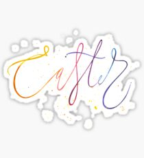 Easter watercolor lettering Sticker