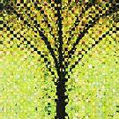 Modern Landscape Art - Pieces 10 - Sharon Cummings by Sharon Cummings