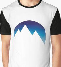Minimalistic Mountain Peaks Graphic T-Shirt