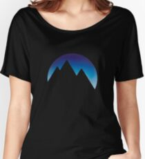 Minimalistic Mountain Peaks Women's Relaxed Fit T-Shirt