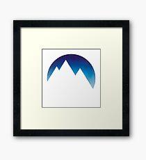 Minimalistic Mountain Peaks Framed Print