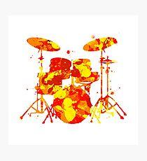 Paint Splatter Drum Kit Photographic Print