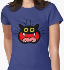 Crazy Cat by Cheerful Madness!! Women's Fitted T-Shirt