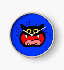 Crazy Cat by Cheerful Madness!! Clock
