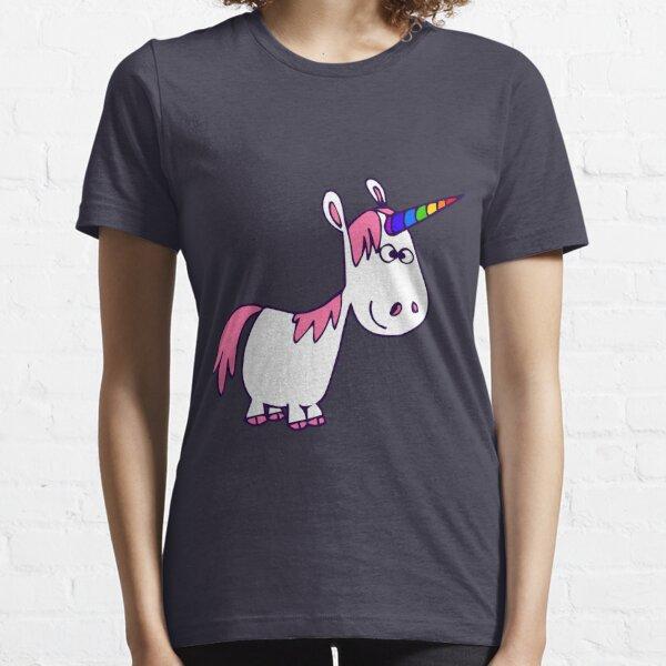 Cute Rainbow Cartoon Unicorn by Cheerful Madness!! Essential T-Shirt