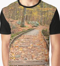 Autumn Logging Railroad Graphic T-Shirt