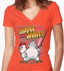 Guess What? Women's Fitted V-Neck T-Shirt