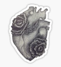 Thorny Heart Black & White - Madison Wedin Sticker