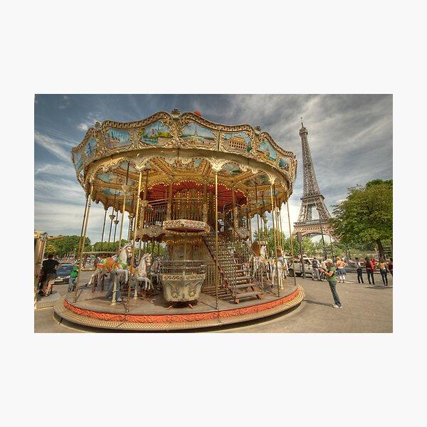 Paris Carousel Photographic Print