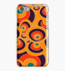 Orange, blue, red Colorful ovals iPhone Case/Skin