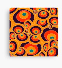 Orange, blue, red Colorful ovals Canvas Print