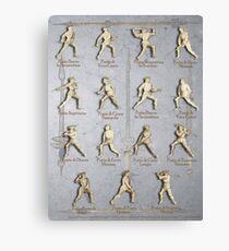 """Fiore dei Liberi """"Getty"""" Armored Positions  Canvas Print"""