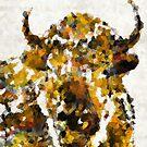 Abstract Buffalo Art 1 by Sharon Cummings by Sharon Cummings