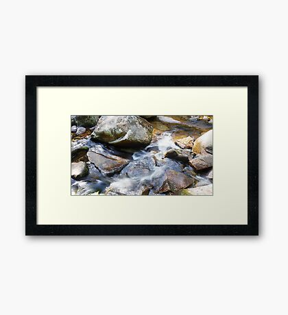 Rocking the Water Framed Print