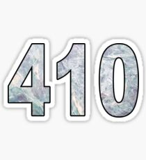 410 Area Code 3 Sticker