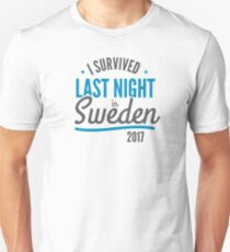 I Survived Last Night in Sweden funny Trump political tshirt T-Shirt