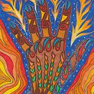 Abstract colourful firehand #MarchMemes by Lynn Excell