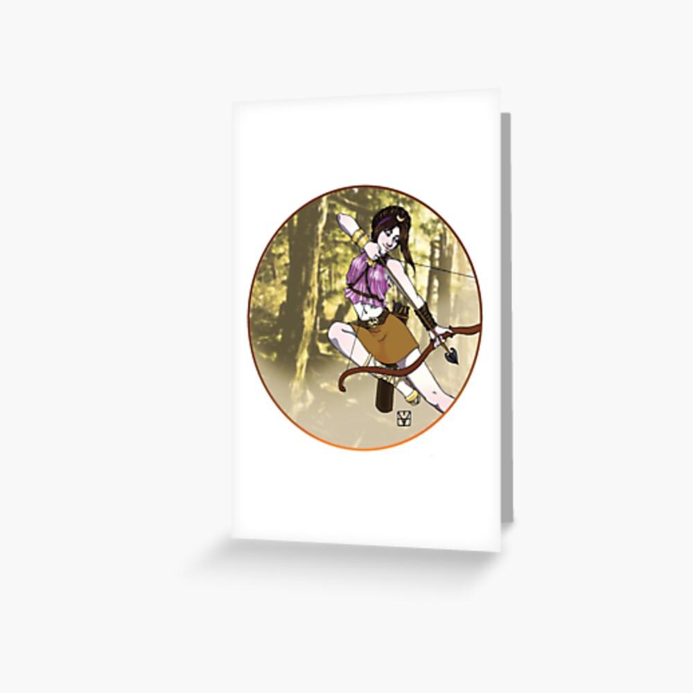 Artemis, Goddess of the Hunt Greeting Card