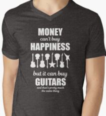 Money Can't Buy Happiness Guitars T-Shirt T-Shirt