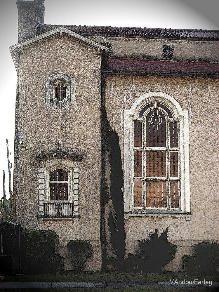 Church at Dusk by VAndowFarley