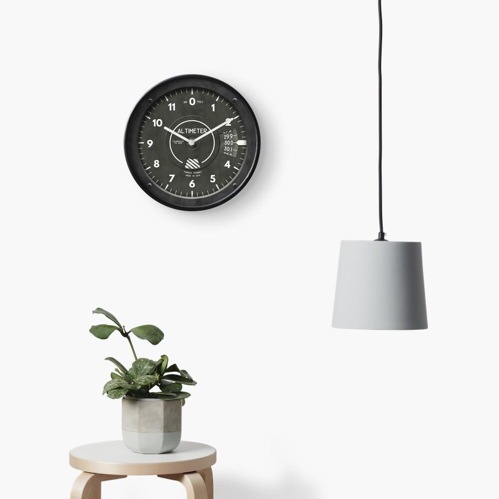 Altimeter Pilot Airplane Clock Clock