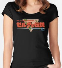 The Legend Of Zelda - Japanese Logo - Clean Women's Fitted Scoop T-Shirt
