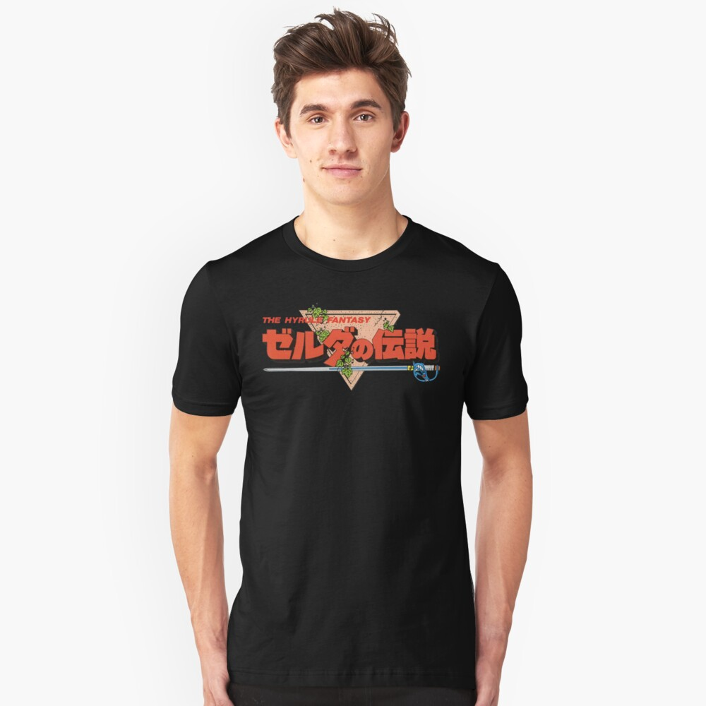 The Legend Of Zelda - Logotipo japonés - Limpio Camiseta ajustada