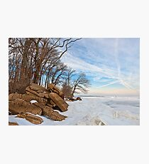 Rugged Winter Beach Photographic Print
