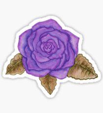 bright purple rose watercolor Sticker